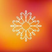 stock photo of monogram  - Vector abstract emblem  - JPG