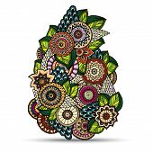 foto of mehndi  - Henna Paisley Mehndi Doodles Abstract Floral Vector Illustration Design Element - JPG