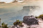 foto of canaima  - The view from the plateau of Roraima on the Grand Sabana  - JPG
