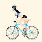 picture of bicycle gear  - Cyclists and fixed gear bicycle Vector and Illustration - JPG