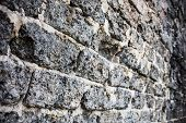 foto of mortar-joint  - Brick masonry with rich and various texture - JPG