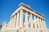 stock photo of parthenon  - Famous Parthenon temple in the Acropolis Athens Greece - JPG