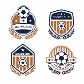 picture of football  - Vector set sport emblems - JPG