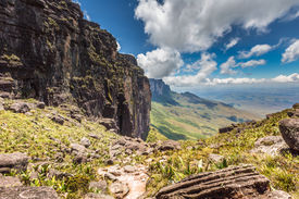 stock photo of canaima  - The view from the plateau of Roraima on the Grand Sabana  - JPG
