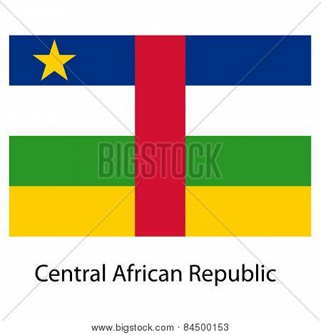 Flag  Of The Country  Central African Republic. Vector Illustrat
