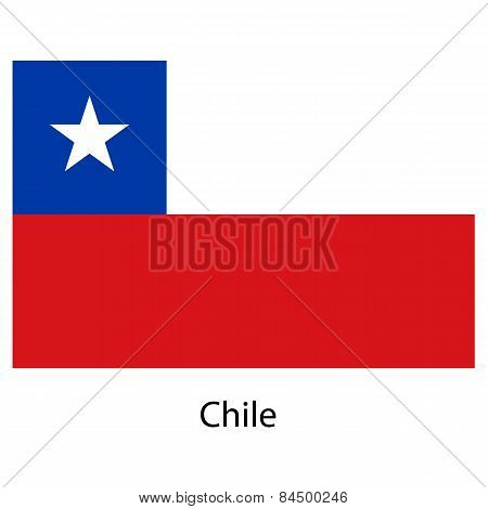 Flag  Of The Country  Chile. Vector Illustration.
