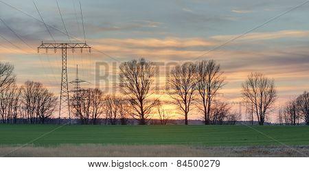 Sunset In Mecklenburg-vorpommern