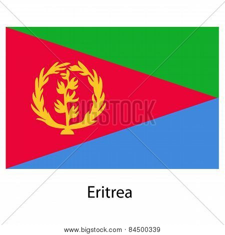 Flag  Of The Country  Eritrea. Vector Illustration.