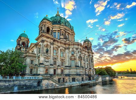 sunset at Berlin Cathedral
