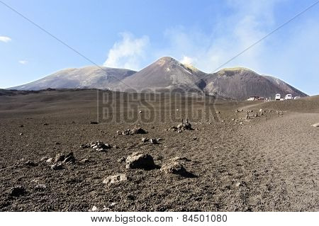 Summit craters on volcano Etna