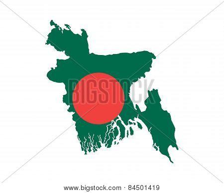 Bangladesh Flag Map