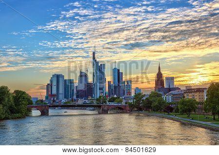 sunset at Frankfurt Germany