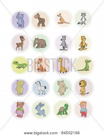 Icons Animals Set