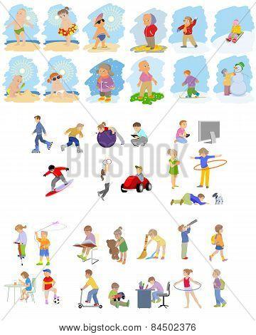 Images Of Children Set