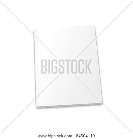 Blank Magazine Template On Light Background. Vector Illustration.