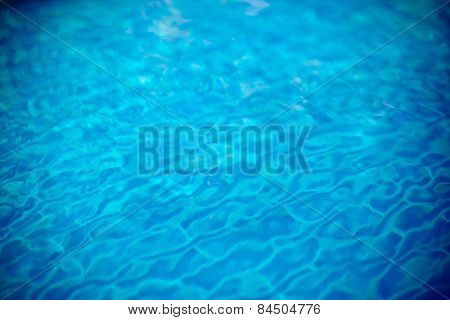 Clear Transparent Pool Water Defocused Background