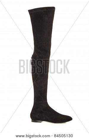 Women's Long Boots On A White Background