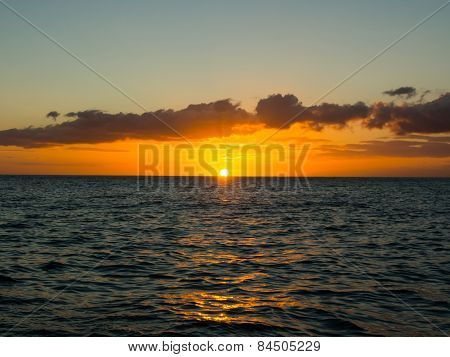 Sunset Above The Atlantic Ocean