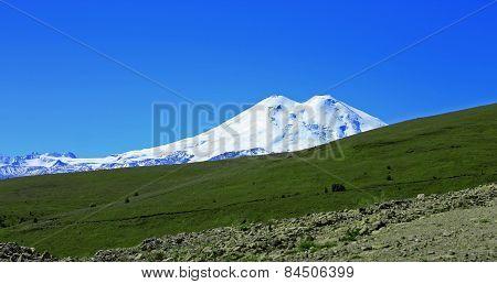 Elbrus Mountain Is Highest Peak Of Europe