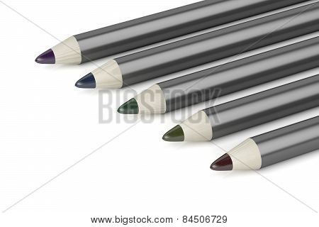 Eye Pencils With Different Colors