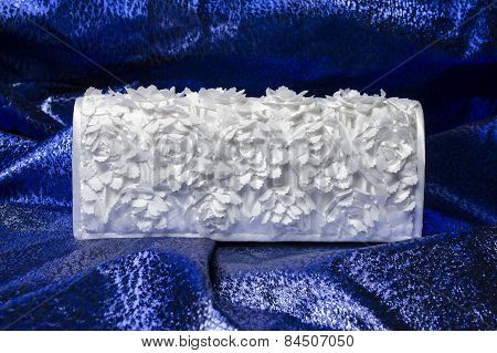 Bridal Clutch On A Blue Background