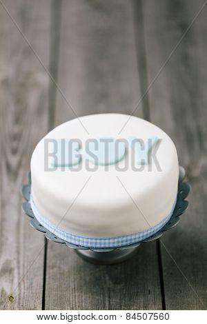 Celebration Cake For A Baby Boy