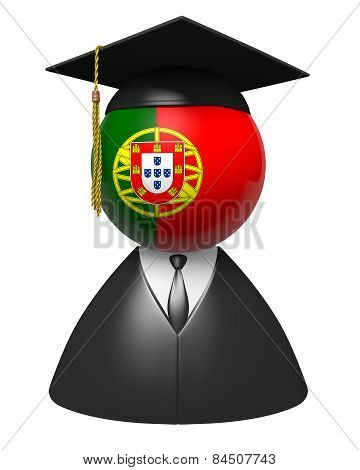 Portugal college graduate concept for schools and academic education