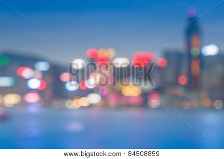 Out of focused city night bokeh abstract background.