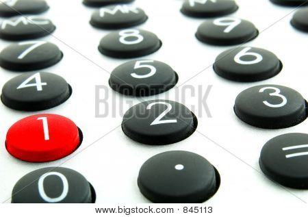 calculator and red buttom