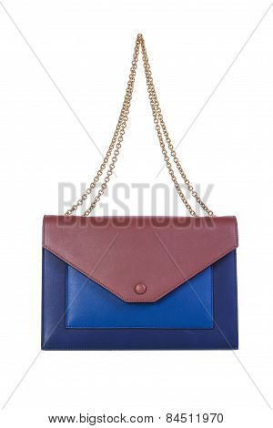 Clutch Handbag On A White Background