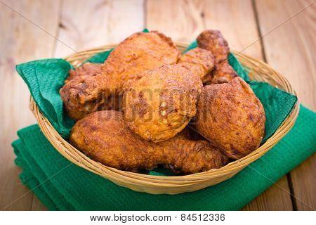 Fried chicken in the basket