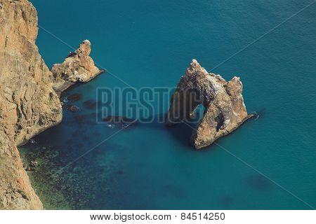 Zoloti Vorota (golden Gate) - Geological Landmark In The Crimea. Karadag.