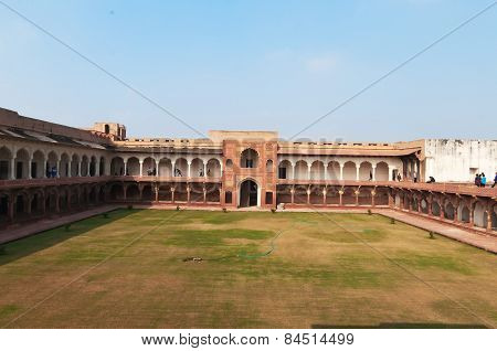 Macchi Mahal In Red Agra Fort