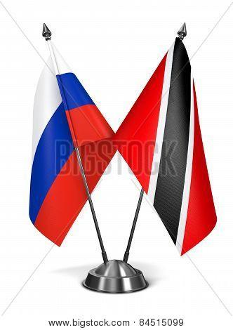 Russia, Trinidad and Tobago - Miniature Flags.