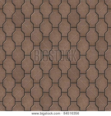 Brown Wavy Paving Slabs. Seamless Tileable Texture.