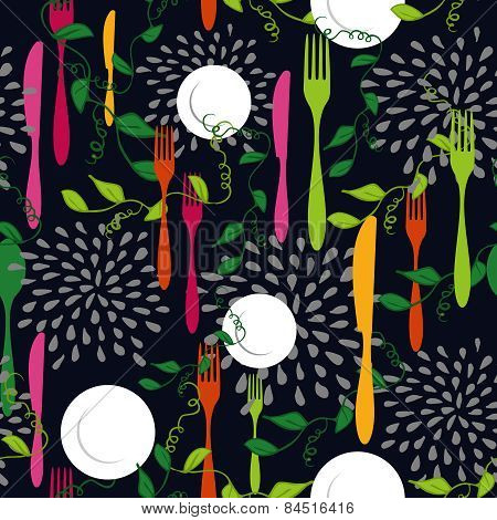 Food Restaurant Seamless Pattern Concept