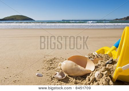 Shell, Bucket And Spade.