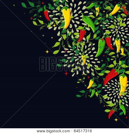 Mexican Food Background Illustration