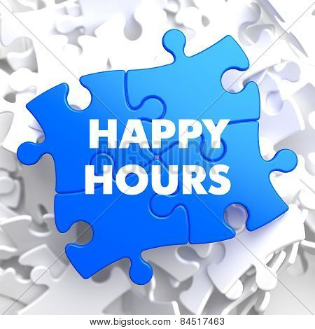 Happy Hours on Blue Puzzle.