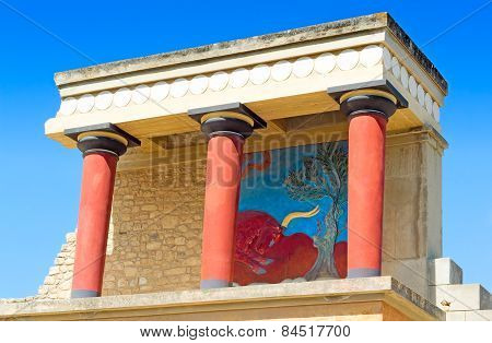 Knossos Palace Of King Minos, Crete, Greece.