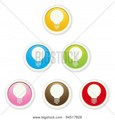 The Set Of Bulb Icons