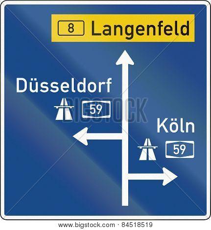 Vorwegweiser Zur Autobahn
