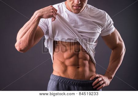 Abdominal muscles strong man