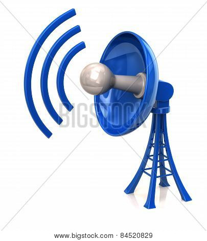 Blue Technology Satellite Dish Antenna