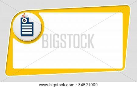 Abstract Yellow Box