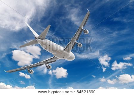 big jet plane flying