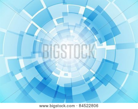 Modern Business Light Blue Background With Rectangles