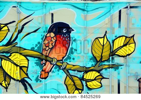 Street art Montreal bird