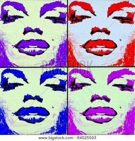 Street art Montreal Marilyn Monroe