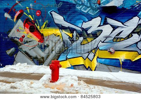 Street art Montreal hydrant
